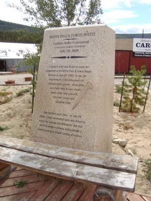 White Pass & Yukon Route Marker image. Click for full size.