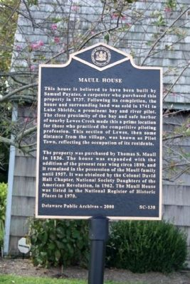 Maull House Marker image. Click for full size.