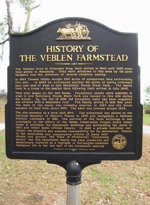 History of the Veblen Farmstead Marker image. Click for full size.
