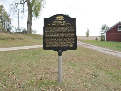 Thomas Anderson Veblen and Kari Bunde Veblen Farmstead / History of the Veblen Farmstead Marker image. Click for full size.