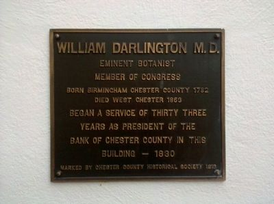 William Darlington M.D. Marker image. Click for full size.