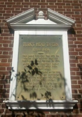 Turk's Head Tavern Marker image. Click for full size.