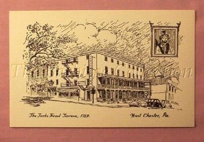 Turk's Head Tavern Post Card found on Ebay image. Click for full size.