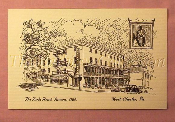 Turk's Head Tavern Post Card found on Ebay