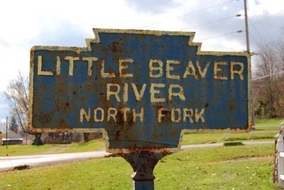 Little Beaver River North Fork Keystone Marker image. Click for full size.