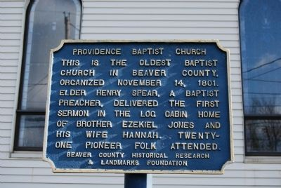 Providence Baptist Church Marker image. Click for full size.