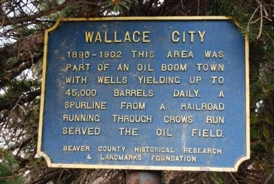 Wallace City Marker image. Click for full size.