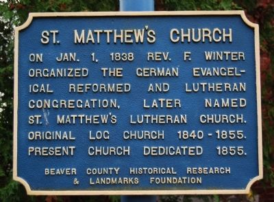 St. Matthew's Church Marker image. Click for full size.