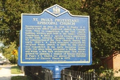 St. Paul's Protestant Episcopal Church Marker image. Click for full size.