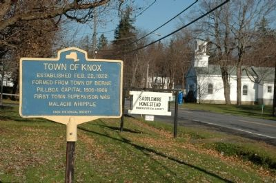 Town of Knox Marker image. Click for full size.