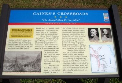 Gaines's Crossroads Marker image. Click for full size.