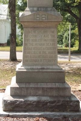 Johnston Civil War Monument North face text image. Click for full size.