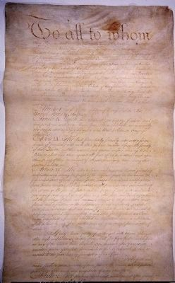 Articles of Confederation, Page 1 image. Click for full size.