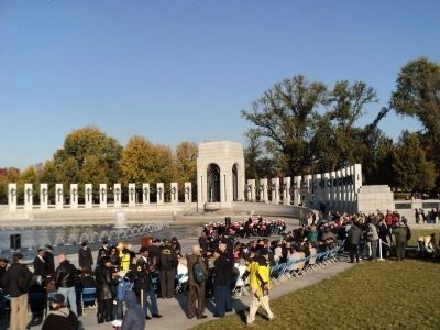 Veterans Day Commemoration at the World War II Memorial image. Click for full size.