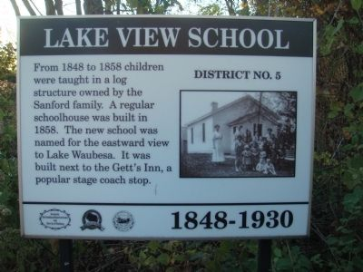 Lake View School Marker image. Click for full size.