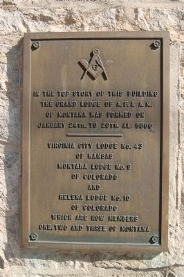 Old Masonic Temple Marker image. Click for full size.