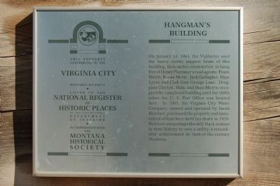 Hangman's Building Marker image. Click for full size.