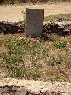 The Boot Hill marker for William & Clara Dalton image. Click for full size.