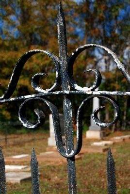 Cemetery Ironwork image. Click for full size.