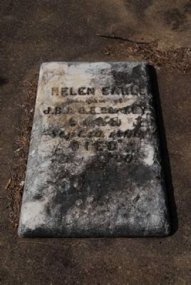 Helen Earle Cooley Tombstone image. Click for full size.