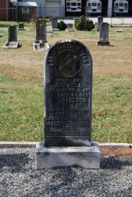 Anna Gadsden Fell Tombstone image. Click for full size.
