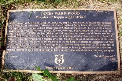 James Ward Wood Marker image. Click for full size.
