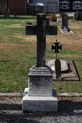 Rev. Thomas F. Gadsden Tombstone<br>Front image. Click for full size.