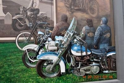Motorcycle Mural detail image. Click for full size.