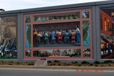 The Telephone Pioneers Marker & Switchboard Mural image. Click for full size.