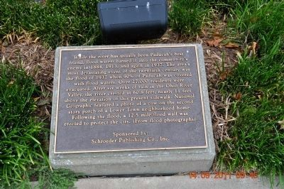 Paducah 1937 Flood Marker image. Click for full size.