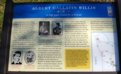 Albert Gallatin Willis Marker image. Click for full size.