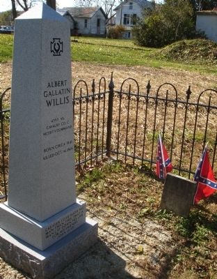 Albert Gallatin Willis Monument and Headstone image. Click for full size.