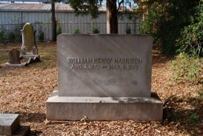 William Henry Harrison Tombstone image. Click for full size.