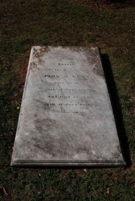 John Keys Tombstone image. Click for full size.