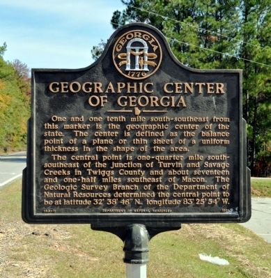 Geographic Center of Georgia Marker image. Click for full size.