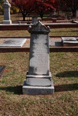 Amelia Orr Tombstone image. Click for full size.