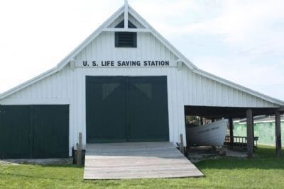 U.S. Life Saving Station, Riverside view image. Click for full size.