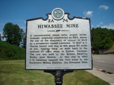 Hiwassee Mine Marker image. Click for full size.