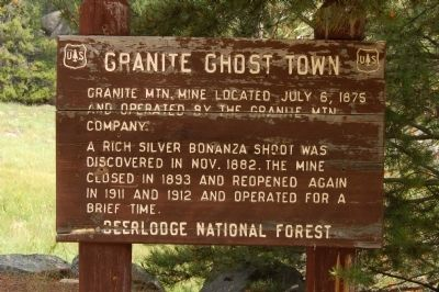 Granite Ghost Town Marker image. Click for full size.