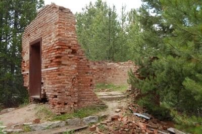 Granite Mountain Mining Company Office ruins image. Click for full size.
