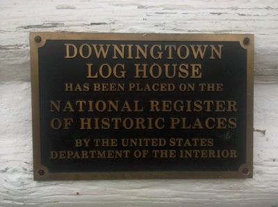 Downingtown Log House Marker image. Click for full size.