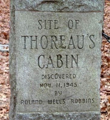 Thoreau's Cabin Marker image. Click for full size.