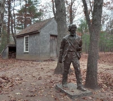 Statue and Hut Replica image. Click for full size.