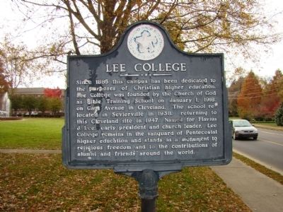 Lee College Marker image. Click for full size.