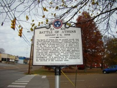 Battle of Athens Marker image. Click for full size.