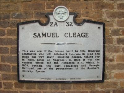 Samuel Cleage Marker image. Click for full size.