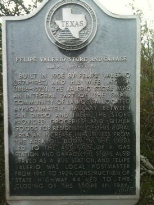 Felipe Valerio Store and Garage Marker image. Click for full size.