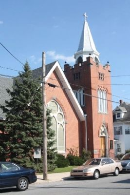 Wesley United Methodist with Marker image. Click for full size.