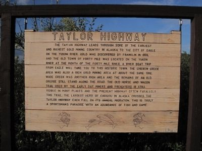 Taylor Highway Marker image. Click for full size.