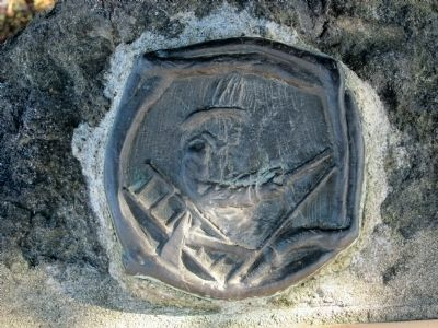 Relief of fireman above the marker image. Click for full size.